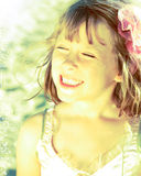 Meisje in de kleding van de feeballerina Stock Foto's