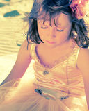 Meisje in de kleding van de feeballerina Royalty-vrije Stock Afbeelding
