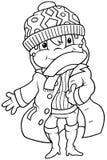 Meisje in de Kleding van de Winter stock illustratie