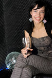 Meisje in de nachtclub Stock Afbeelding