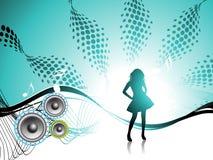 Meisje. De partij van de disco. Royalty-vrije Stock Fotografie