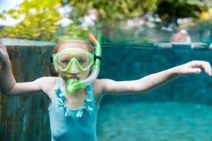 Meisje in de pool Stock Afbeeldingen