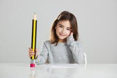 Meisje in de school royalty-vrije stock foto's