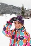 Meisje in de sneeuw Stock Afbeeldingen