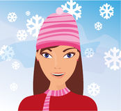 Meisje in de sneeuw Royalty-vrije Stock Afbeelding