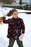 Meisje in de sneeuw Royalty-vrije Stock Foto's