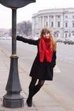 Meisje in de stad Royalty-vrije Stock Foto's