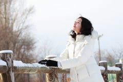 Meisje in de winter Stock Afbeelding