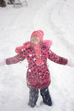 Meisje in de winter royalty-vrije stock afbeelding