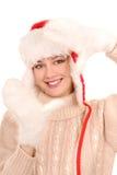 Meisje in de winterkleding Stock Foto's