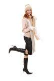 Meisje in de winterkleding Royalty-vrije Stock Afbeeldingen
