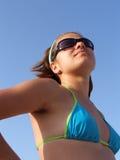Meisje in de zon Stock Fotografie