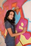 Meisje in Denim CatSuit royalty-vrije stock afbeelding