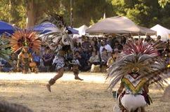 Meisje die bij powwow dansen Stock Fotografie