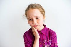 Meisje die emoties tonen stock foto's