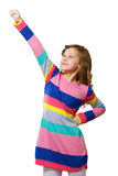 Meisje die haar hand rasing Royalty-vrije Stock Afbeelding