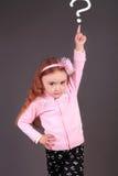 Meisje die omhoog in de studio richten royalty-vrije stock foto