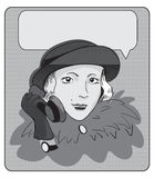 Meisje die op de telefoon spreken Stock Foto