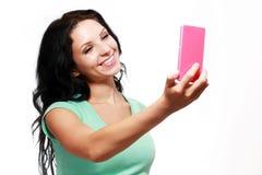 Meisje die Selfies nemen stock foto's