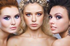 Meisje drie royalty-vrije stock foto's