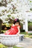 Meisje in een bloem pot2 Royalty-vrije Stock Afbeelding