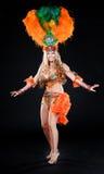 Meisje in een dansend kostuum Stock Afbeelding