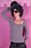 Meisje in een gestreepte blouse Royalty-vrije Stock Afbeeldingen