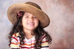 Meisje in een hoed Royalty-vrije Stock Afbeeldingen