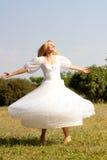 Meisje in een huwelijk-kleding Royalty-vrije Stock Foto
