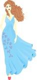 Meisje in een kleding Stock Afbeeldingen