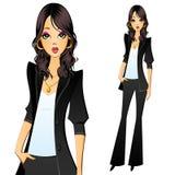 Meisje in een pantsuit Secretaresse, manager, advocaat, accountant of bediende Stock Foto's