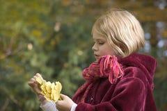 Meisje in een park Royalty-vrije Stock Afbeelding