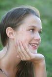 Meisje in een Park, het Openlucht Plaatsen royalty-vrije stock foto's
