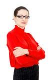 Meisje in een rode blouse Royalty-vrije Stock Afbeeldingen