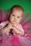 Meisje in een roze pluizige rok Stock Foto