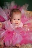 Meisje in een roze pluizige rok Stock Afbeelding