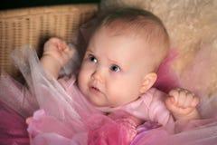 Meisje in een roze pluizige rok Royalty-vrije Stock Fotografie