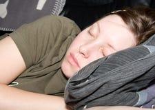 Meisje een slaap Stock Afbeeldingen