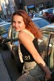 Meisje in een stad Royalty-vrije Stock Afbeelding