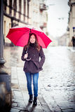 Meisje in een straat Royalty-vrije Stock Foto's