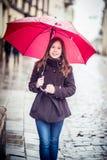 Meisje in een straat Royalty-vrije Stock Fotografie