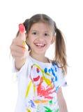 Meisje in een verf Stock Foto