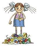Meisje in een verontreinigd milieu Royalty-vrije Stock Foto
