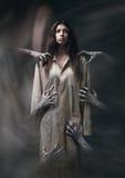 Meisje in een vuile robe Royalty-vrije Stock Foto