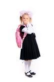 meisje in eenvormige school stock foto's