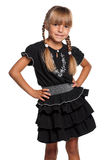 Meisje in eenvormige school Stock Foto