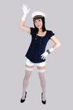 Meisje in eenvormige zeeman. Royalty-vrije Stock Foto's
