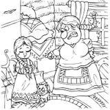 Meisje en boze stiefmoeder Royalty-vrije Stock Fotografie