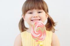 Meisje en een lolly Royalty-vrije Stock Foto