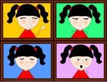 Meisje en emoties Stock Afbeelding